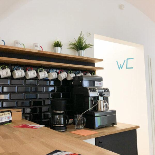 Die Kaffeeecke im Pixel Campus